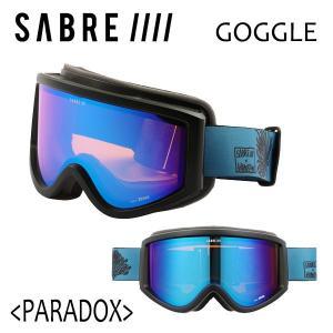 SABRE,セイバー/GOGGLE,スノーゴーグル/HIROTTON/PARADOX02/ACID RIDER/SVG1806BKBL/MT BLACK/SONAR BLUE/Carl Zeiss社製ハイコントラストレンズ|selfishsurf