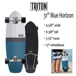 "TRITON SKATEBOARD,トライトンスケートボード/31""BLUE HORIZON/CX.4 TRACK/サーフスケート/by carver/カーバースケートボード/コンプリート/2018年日本先行発売 selfishsurf"