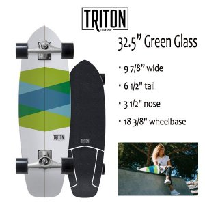 "TRITON SKATEBOARD,トライトンスケートボード/32.5""GREEN GLASS/CX.4 TRACK/サ-フスケート/by carver/カーバースケートボード/コンプリート/2018年日本先行発売