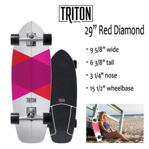 "TRITON SKATEBOARD,トライトンスケートボード/29""RED DIAMOND/CX.4 TRACK/サーフスケート/by carver/カーバースケートボード/コンプリート/2018年日本先行発売 selfishsurf"