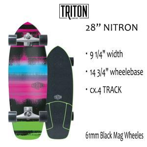"TRITON SKATEBOARD,トライトンスケートボード/28"" NITRON/CX.4 TRACK/サーフスケート/by carver/カーバースケートボード/コンプリート/日本正規代理店品|selfishsurf"