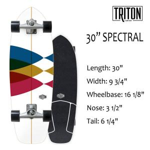 "TRITON SKATEBOARD,トライトンスケートボード/30"" SPECTRAL/CX.4 TRACK/サーフスケート/by carver/カーバースケートボード/日本正規代理店品/コンプリート|selfishsurf"