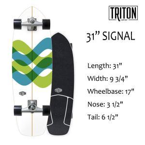 "TRITON SKATEBOARD,トライトンスケートボード/31"" SIGNAL/CX.4 TRACK/サーフスケート/by carver/カーバースケートボード/日本正規代理店品/コンプリート|selfishsurf"