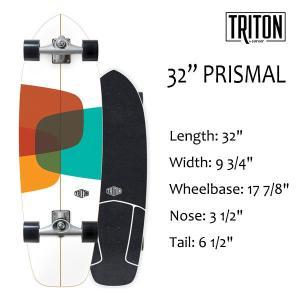 "TRITON SKATEBOARD,トライトンスケートボード/32"" PRISMAL/CX.4 TRACK/サーフスケート/by carver/カーバースケートボード/日本正規代理店品/コンプリート|selfishsurf"