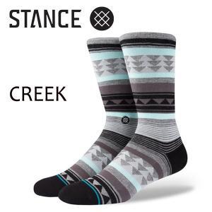 STANCE・スタンス/SOCKS・靴下・ソックス/17FA/THE 200 NEEDLE・CREEK/GRY・グレー/L(25-29cm)/FOUNDATION|selfishsurf