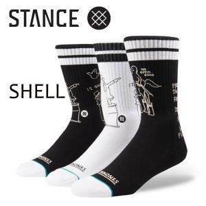 STANCE・スタンス/SOCKS・靴下・ソックス/17FA/THE CLASSIC CREW・SHELL/BLK・ブラック/L(25-29cm)/MARK GONZALES Collection/SKATE/スケートボード|selfishsurf