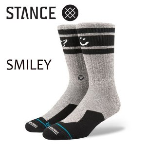 STANCE・スタンス/SOCKS・靴下・ソックス/17FA/THE ATHLETIC CREW・SMILEY/GRY・グレー/L(25-29cm)/MARK GONZALES Collection/SKATE/スケートボード|selfishsurf