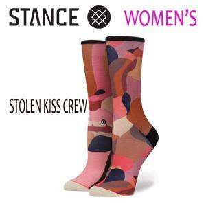 STANCE・スタンス/SOCKS・靴下・レディースソックス/17FA/STOLEN KISS CREW/MUL・マルチ/WOMENS・女性用サイズ/22-25cm/クルーソックス/INES LONGEVIALコラボ|selfishsurf