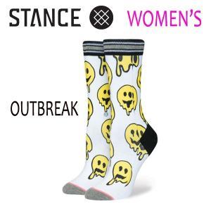 STANCE・スタンス/SOCKS・靴下・レディースソックス/17FA/TOMBOY LITE・OUTBREAK/WHT・ホワイト/WOMENS・女性用サイズ/22-25cm/Poly Blend|selfishsurf
