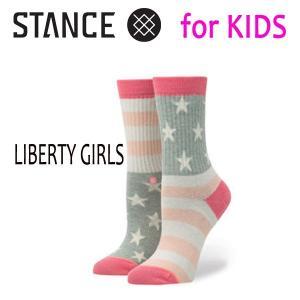 STANCE・スタンス/子供用靴下・キッズソックス/17FA/THE CLASSIC LIGHT・LIBERTY GIRLS/MUL・マルチカラー/19.5-23cm/COMBED COTTON|selfishsurf