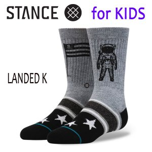 STANCE・スタンス/子供用靴下・キッズソックス/17FA/THE CLASSIC LIGHT・LANDED K/GRY・グレー/19.5-23cm|selfishsurf