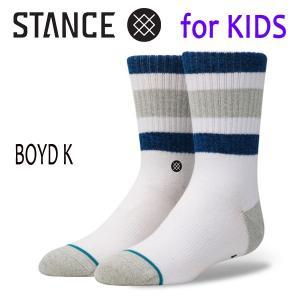 【P10倍】STANCE・スタンス/子供用靴下・キッズソックス/17FA/THE CLASSIC LIGHT・BOYD K/WHT・ホワイト/19.5-23cm|selfishsurf