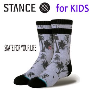STANCE・スタンス/子供用靴下・キッズソックス/18SP/THE CLASSIC LIGHT・SKATE FOR YOUR LIFE K/GRY・グレー/Y-M(16.5-19.5cm)・Y-L(19.5-23cm)|selfishsurf