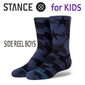 STANCE・スタンス/子供用靴下・キッズソックス/18SU/THE CLASSIC LIGHT・SIDE REEL BOYS/NVY・ネイビー/Y-M(16.5-19.5cm)・Y-L(19.5-23cm)/星柄/ボーダー|selfishsurf