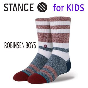 STANCE・スタンス/子供用靴下・キッズソックス/18SU/THE CLASSIC LIGHT・ROBINSEN BOYS/RED・レッド/Y-M(16.5-19.5cm)・Y-L(19.5-23cm)/Butter Blend|selfishsurf