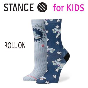 STANCE・スタンス/子供用靴下・キッズソックス/18SU/THE CLASSIC LIGHT・ROLL ON GIRLS/MUL・ネイビー×ホワイト/16.5-19.5cm|selfishsurf