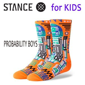 STANCE・スタンス/子供用靴下・キッズソックス/18HO/THE CLASSIC LIGHT・PROBABILITY BOYS/ORG・オレンジ/スターウォーズ/ネオンカラー/R2D2 selfishsurf