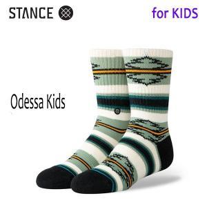 STANCE・スタンス/子供用靴下・キッズソックス/19FA/THE CLASSIC LIGHT・ODESSA KIDS/GRN・グリーン/トライバル|selfishsurf
