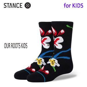 STANCE・スタンス/子供用靴下・キッズソックス/20SU/THE CLASSIC LIGHT・OUR ROOTS KIDS/BLK・ブラック selfishsurf