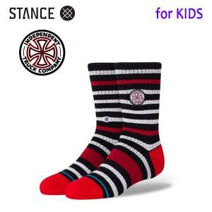 STANCE・スタンス/子供用靴下・キッズソックス/20FA/THE CLASSIC LIGHT・INDEPENDENT KIDS/BLK・ブラック/インデペンデントコラボ selfishsurf