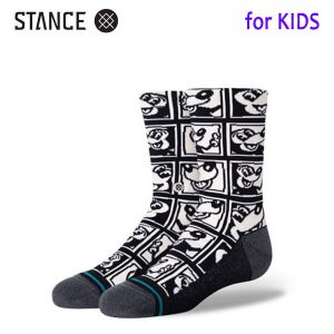 STANCE・スタンス/子供用靴下・キッズソックス/20HO/THE CLASSIC LIGHT・1985 HARING KIDS/BLK・ブラック/ディズニーxキース・ヘリングコラボ selfishsurf