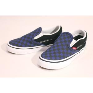 Vansバンズ/TODDLERS,幼児用サイズ/17FA/CLASIIC SLIP-ON,スリッポン/(CHECKERBOARD)BLACK/BLUE DEPTHS/14.8〜17.5cm selfishsurf