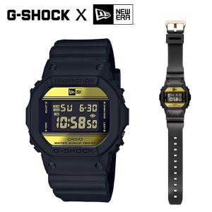 CASIO,カシオ/G-SHOCK,ジーショック/35周年記念限定モデル/『G-SHOCK×NEW ERA』ニューエラ コラボモデル/DW-5600NE-1JR/BLACK/GOLD・ブラック×ゴールド|selfishsurf