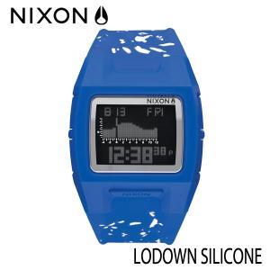 NIXON,ニクソン/時計,サーフウォッチ,TIDE付き/2016年summer新作/THE LODOWN SILICONE,ローダウンシリコン/NA2812303-00/COBALT SPECKLE|selfishsurf