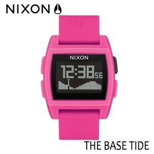 NIXON,ニクソン/時計,サーフウォッチ,TIDE付き/2017年SPRING新作/THE BASE TIDE,ベースタイド/NA11042688-00/PUNK PINK RESIN,ピンク selfishsurf
