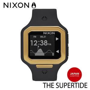 NIXON,ニクソン/時計,サーフウォッチ,TIDE付き/THE SUPERTIDE,スーパータイド/NA3161031/ALL BLACK/GOLD,オールブラック×ゴールド/JAPAN LIMITED・日本限定 selfishsurf
