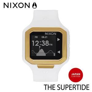 NIXON,ニクソン/時計,サーフウォッチ,TIDE付き/THE SUPERTIDE,スーパータイド/NA3161035/ALL WHITE/GOLD,オールホワイト×ゴールド/JAPAN LIMITED・日本限定 selfishsurf
