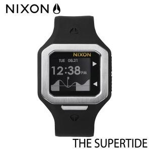 NIXON,ニクソン/時計,サーフウォッチ,TIDE付き/THE SUPERTIDE,スーパータイド/NA316180/BLACK/SILVER,ブラック×シルバー selfishsurf