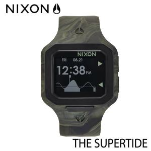 NIXON,ニクソン/時計,サーフウォッチ,TIDE付き/THE SUPERTIDE,スーパータイド/NA3161727/MARBLED CAMO,マーブルカモ selfishsurf