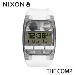 NIXON,ニクソン/時計,サーフウォッチ/THE COMP,コンプ/NA408126-00/ALL WHITE・オールホワイト|selfishsurf