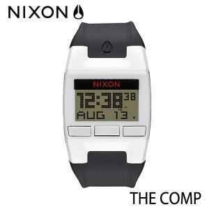 NIXON,ニクソン/時計,サーフウォッチ/THE COMP,コンプ/NA408127-00/WHITE/BLACK・ホワイト×ブラック selfishsurf