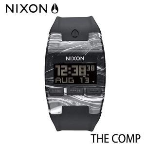 NIXON,ニクソン/時計,サーフウォッチ/THE COMP,コンプ/NA4082193-00/MARBLED BLACK/WHITE・マーブルブラックホワイト selfishsurf