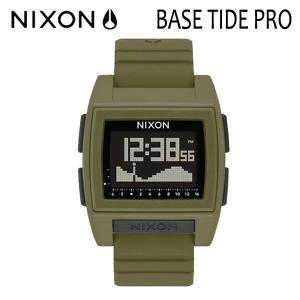 NIXON,ニクソン/時計,サーフウォッチ,TIDE付き/18SP/THE BASE TIDE PRO,ベースタイドプロ/NA12121085-00/SURPLUS・カーキ/日本正規代理店品 selfishsurf