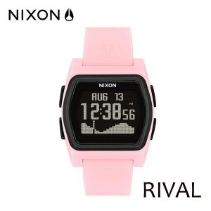 NIXON,ニクソン/時計,サーフウォッチ,TIDE付き/18FA/THE RIVAL,ライバル/NA12362531-00/PINK/BLACK・ピンク/日本正規代理店品|selfishsurf