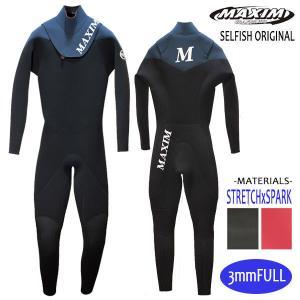 MAXIM CRAFTSUITS,マキシム/21年プロショップ限定モデル/男性用/3フル・ジャージフルスーツ/ノンジップ/ブラック/スレート/ウェットスーツ/サーフィン selfishsurf