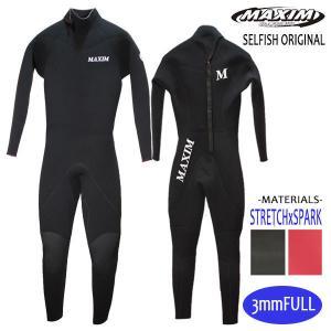 MAXIM CRAFTSUITS,マキシム/21年プロショップ限定モデル/男性用/3フル・ジャージフルスーツ/バックジップ/ブラック/ウェットスーツ/サーフィン selfishsurf