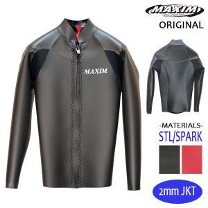 MAXIM CRAFTSUITS/21年プロショップ限定モデル/ウェットスーツ/男性用/ロングスリーブジャケット/フロントジップ/オールブラックスキン/ラバー/クラシック selfishsurf