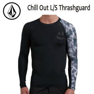 VOLCOM,ボルコム/18SP/ L/S Thrashguard・長袖ラッシュガード/CHILL OUT L/S Thrashguard・N0311806/BLACK・ブラック/S・M・Lサイズ/サーフィン/マリンスポーツ|selfishsurf