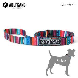 WOLFGANG MAN&BEAST・ウルフギャング/犬用/首輪/リーシュ/リード/Quetzal LEASH/Sサイズ/小型犬/メキシカン柄/中米グアテマラ/BriteBlue.org/AMERICAN MADE/21|selfishsurf