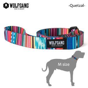 WOLFGANG MAN&BEAST・ウルフギャング/犬用/首輪/リーシュ/リード/Quetzal LEASH/Mサイズ/中型犬/メキシカン柄/中米グアテマラ/BriteBlue.org/AMERICAN MADE/21|selfishsurf