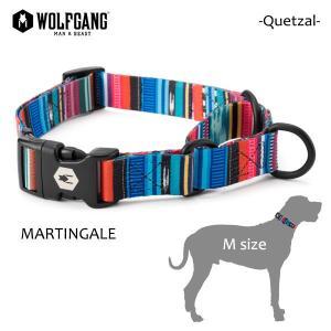 WOLFGANG MAN&BEAST・ウルフギャング/犬用/ハーフチョーク首輪/Quetzal MARTINGALE/Mサイズ/中型犬/メキシカン/グアテマラ/BriteBlue.org/AMERICAN MADE/21|selfishsurf