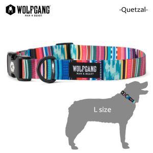 WOLFGANG MAN&BEAST・ウルフギャング/犬用/首輪/Quetzal COLLAR/Lサイズ/大型犬/メキシカン柄/中米グアテマラ/BriteBlue.org/AMERICAN MADE/21|selfishsurf