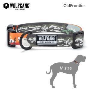 WOLFGANG MAN&BEAST・ウルフギャング/犬用/首輪/OldFrontier COLLAR/Mサイズ/中型犬/Travis Bone/AMERICAN MADE/21|selfishsurf