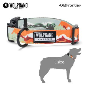 WOLFGANG MAN&BEAST・ウルフギャング/犬用/首輪/OldFrontier COLLAR/Lサイズ/大型犬/Travis Bone/AMERICAN MADE/21|selfishsurf