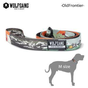 WOLFGANG MAN&BEAST・ウルフギャング/犬用/首輪/リーシュ/リード/OldFrontier LEASH/Mサイズ/中型犬/AMERICAN MADE/OneVibe/21|selfishsurf