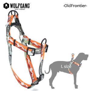 WOLFGANG MAN&BEAST・ウルフギャング/犬用/ハーネス/OldFrontier HARNESS/Lサイズ/大型犬/Travis Bone/AMERICAN MADE/21|selfishsurf